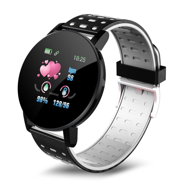 ONE-Gray Round Smart Watch, Blood Pressure, Bluetooth Smartwatch, Men Women Smart Watch, Waterproof And Sports